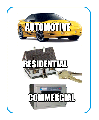 automotive, residential, commercial locksmith services